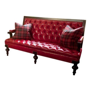 Red Edwardian Aberdeen Settee