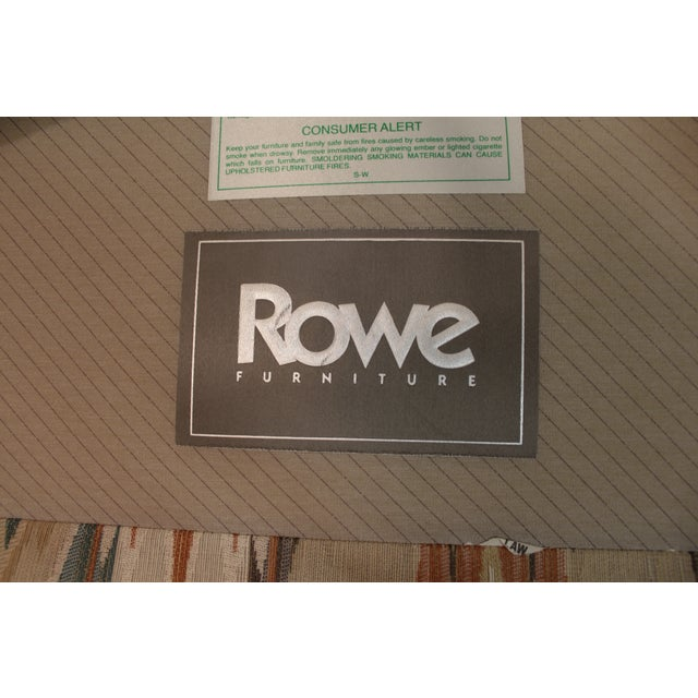 Queen Anne Fireside Wing Chairs by Rowe - Pair - Image 8 of 11