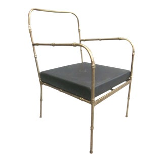 Pair of Faux Bamboo Armchairs in the Manner of Jacques Adnet