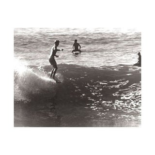 Black & White Vintage Surfer Photo VII