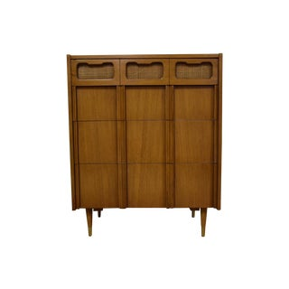 Mid-Century Walnut and Cane Dresser