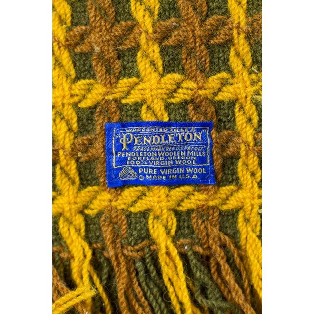 Vintage Pendleton Wool Knit Blanket - Image 6 of 7