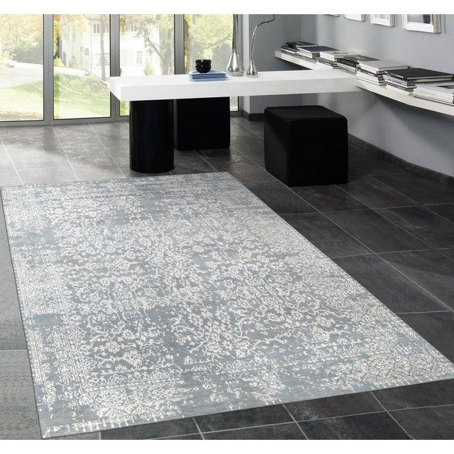 "Pasargad Transitiona Vsilk & Wool Rug- 9' x 12'4"" - Image 4 of 4"