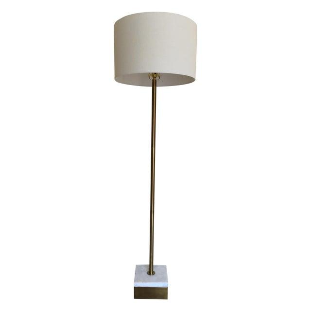 Modern Floor Lamp Brass: Modern Brass & Marble Floor Lamp