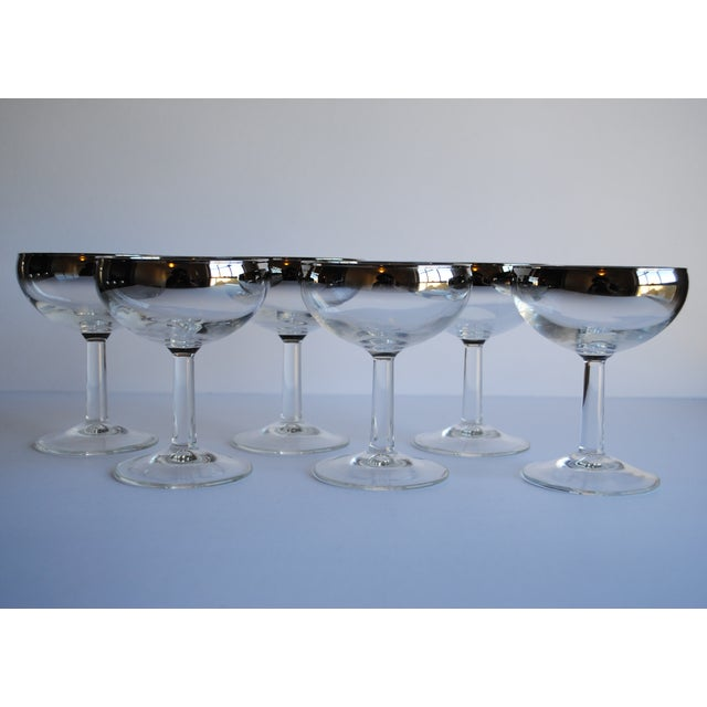 Image of Mid Century Silver Fade Coupes - Set of 6