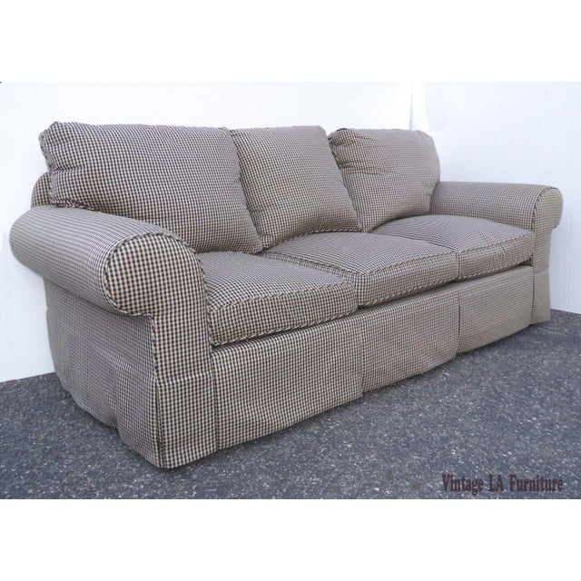 Glabman Furniture Plaid 3 Seater Sofa - Image 2 of 11