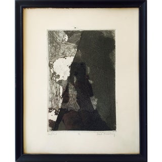 Vintage Original Abstract Lithograph