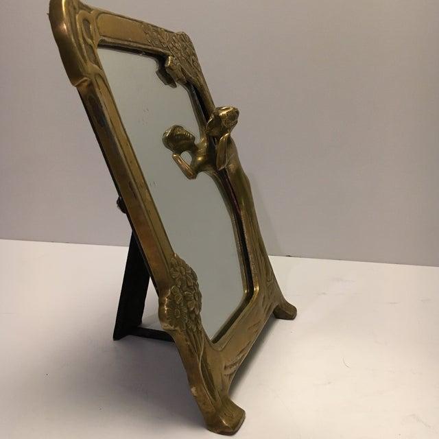 Antique Art Nouveau Vanity Mirror - Image 4 of 6