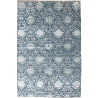 "Ikat Hand Knotted Area Rug - 6'2"" X 9'1"""