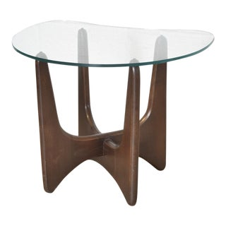 Mid Century Adrian Pearsall Walnut Sculptural End Table