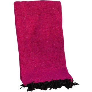 Mexican Boho Chic Fuschia Yoga/Beach Blanket