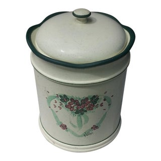 Vintage Heart Cookie Jar