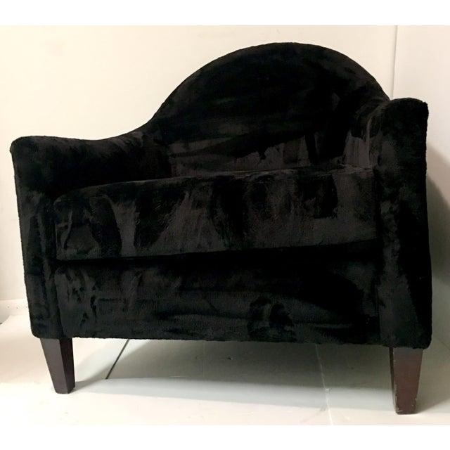 Art Deco Style Faux Mink Fur Club Chair - Image 2 of 6