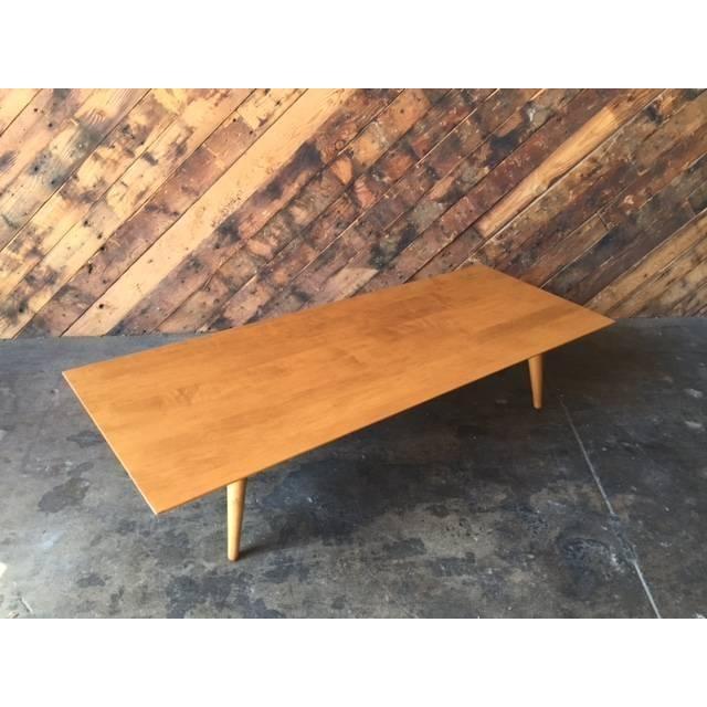 Mid Century Paul McCobb Maple Coffee Table - Image 4 of 5