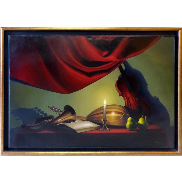 Image of Candle-Lit Still Life Oil Painting by Nicolas Fasolino