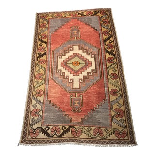 """Bellwether Rugs Vintage Turkish Oushak Small Area Rug - 3'5"""" x 5'6"""""""