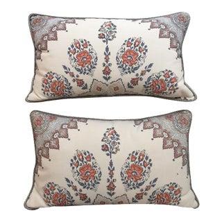 Floral Throw Pillows - A Pair