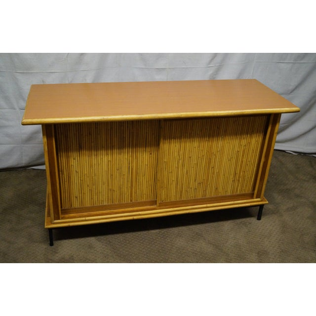 Mid-Century Bamboo Rattan Sideboard Credenza - Image 2 of 10