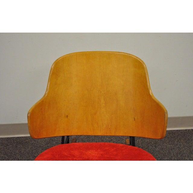 Vintage Mid Century Danish Modern Lb Kofod Larsen Penguin Rocking Chair Rocker - Image 6 of 11