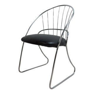 Vintage Mid-Century Chrome Wire Side Chair