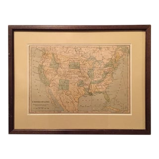 Early 20th Century Map of United States