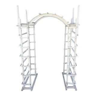 Shabby Chic White Gazebo Garden Arch