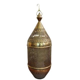 Antique Moroccan Brass Lantern