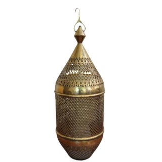Antique Moroccan Brass Lantern
