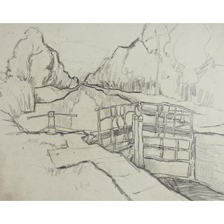 Rustic Canal Pencil Study