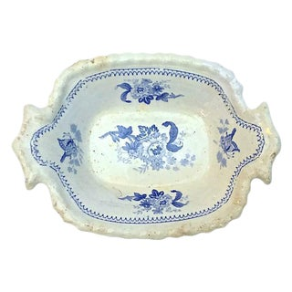Antique Floral & Butterfly Dish