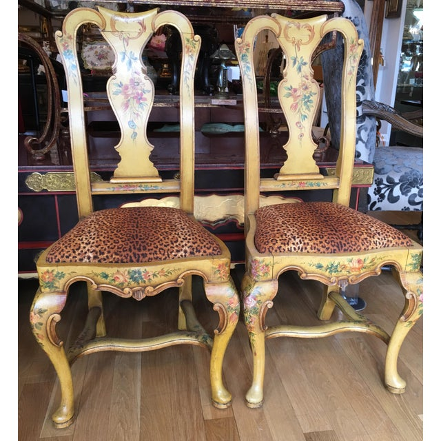 Antique Italian Painted Dining Chairs - Set of 8 - Image 2 of 6 - Antique Italian Painted Dining Chairs - Set Of 8 Chairish