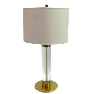 Frederick Cooper Lucite and Brass Table Lamp