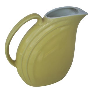 Hall Pottery Yellow Pitcher