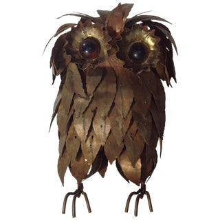 Morris 'Moshe' Katz Owl Sculpture