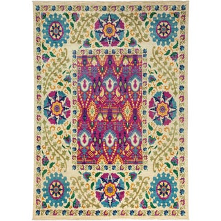 "Suzani, Hand Knotted Area Rug - 7' 10"" X 10' 10"""