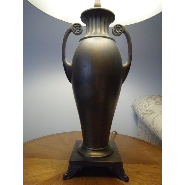 Image of Antique Brass Urn Lamps - A Pair