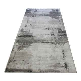 Contemporary Abstract Brown Runner - 2′8″ × 9′10″