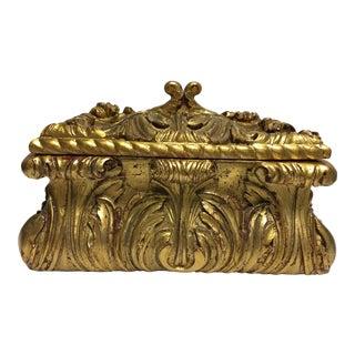 Gold Gilt Acanthus Leaf Treasure Box