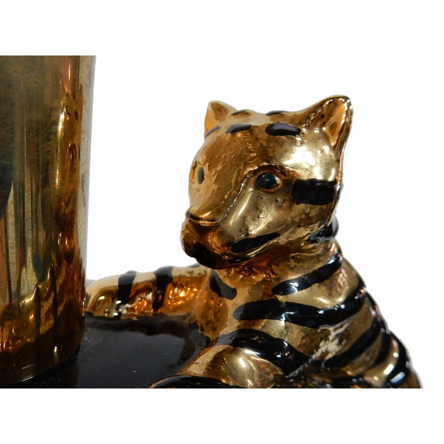 Image of Brass & Enamel Table Lamp by Chapman