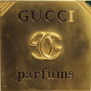 Gucci Parfums Brass Easel Counter Plaque