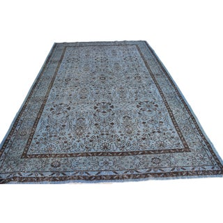 "Turkish Gray Color Overdyed Area Rug - 6'5"" X 10'2"