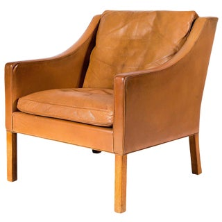 Børge Mogensen Model No. 2207 Leather Lounge Chair