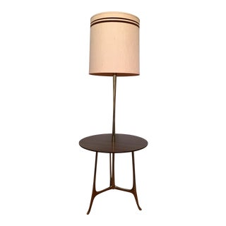 Mid-Century Modern Tray Table Floor Lamp
