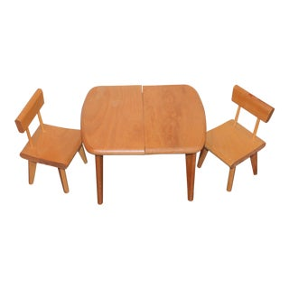 Vintage Miniature Table & Two Chairs