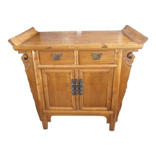 Asian Antique Wood Cabinet