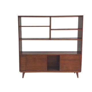 Mid-Century Modern Bookcase Wall Unit