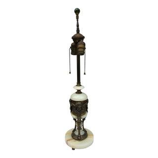 Bronze & Alabaster Cherub Lamp