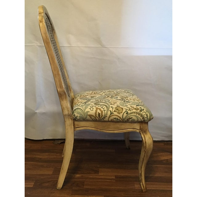 Vintage Cream Cane French Provencial Chair - Image 9 of 9