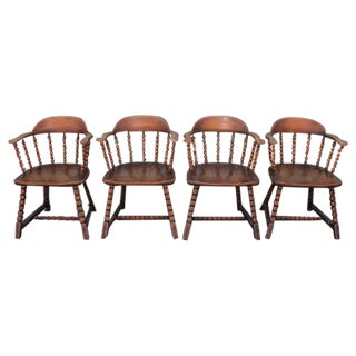 Set of Four Cowboy Captains Chairs