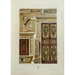 1860 Antique Architectural Print